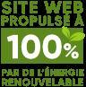 Site eb propulse a 100% par de l'energie renouable.